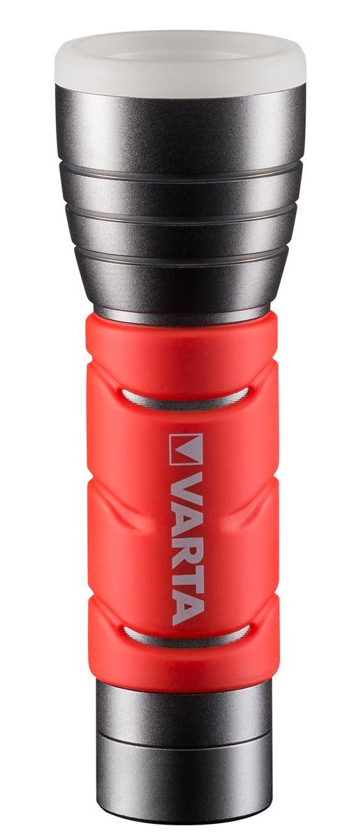 VARTA LED Outdoor Sports Flashlight 3AAA Taschenlampe 235 Lumen Rot NEU OVP